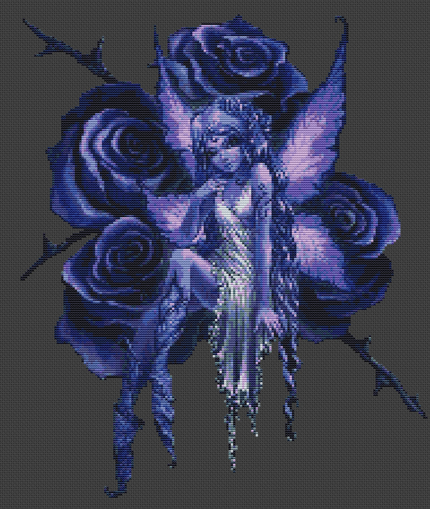 Blue Rose Fairy Counted Cross Stitch Kit