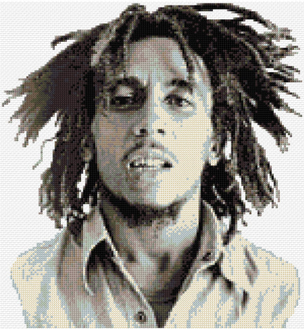 Bob Marley Counted Cross Stitch Kit