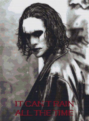Brandon Lee- The Crow Counted Cross Stitch Kit