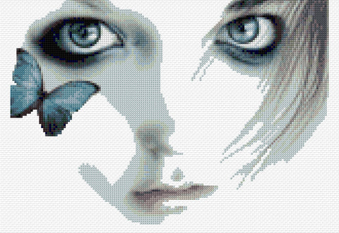 Butterfly Eyes Counted Cross Stitch Kit