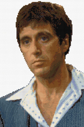 Al Pacino Counted Cross Stitch Kit