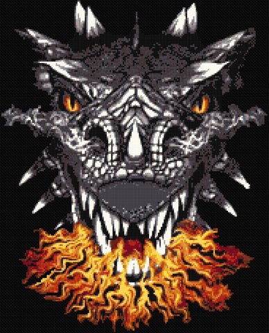 Dragons Flame Counted Cross Stitch Kit