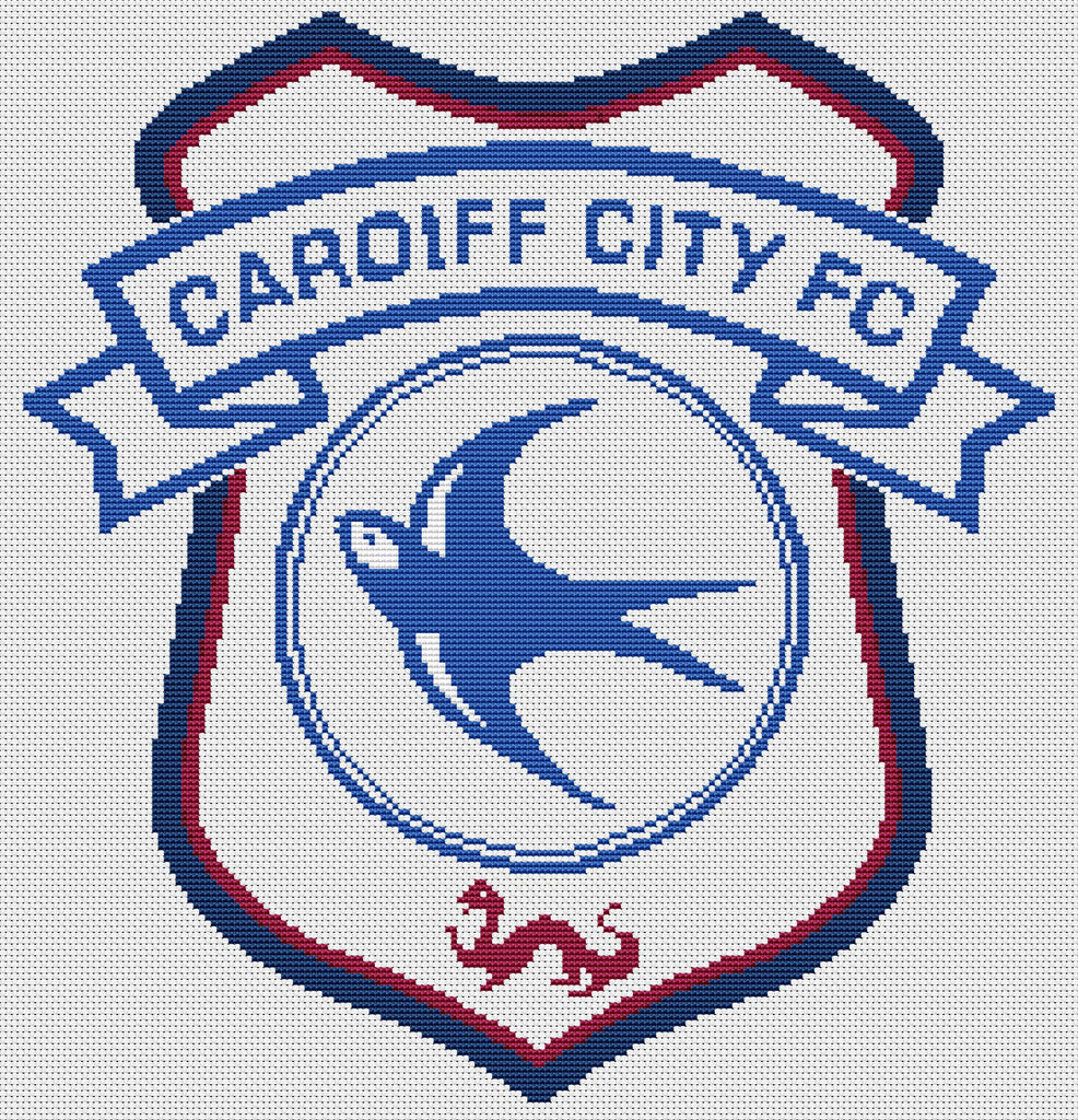 Cardiff FC Crest Counted Cross Stitch Kit
