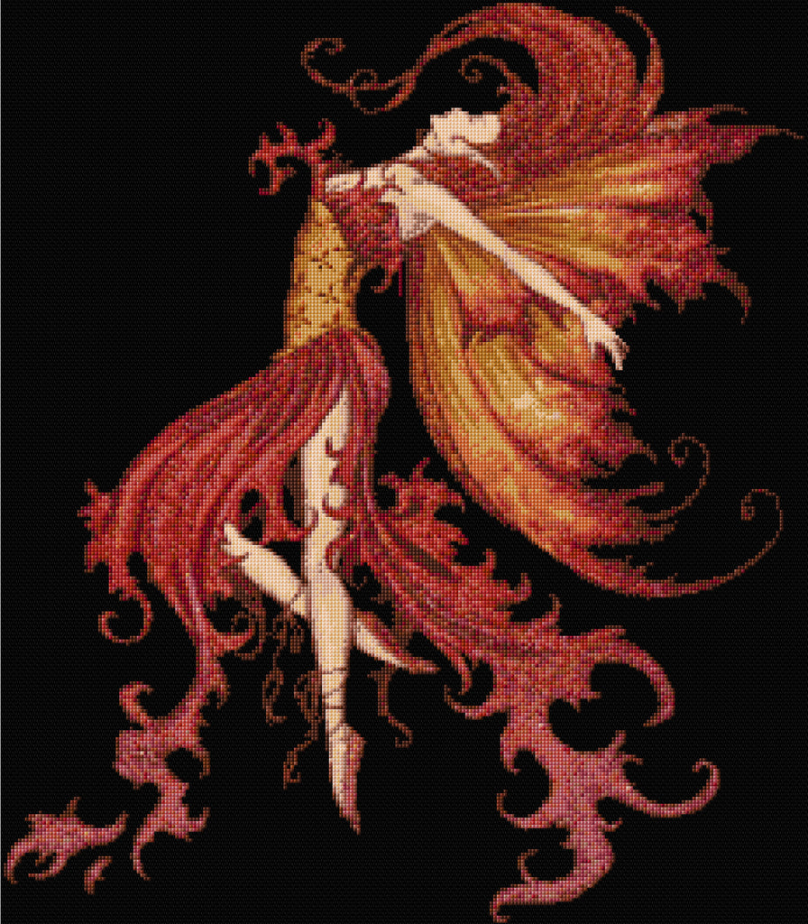Fire Fairy Counted Cross Stitch Kit