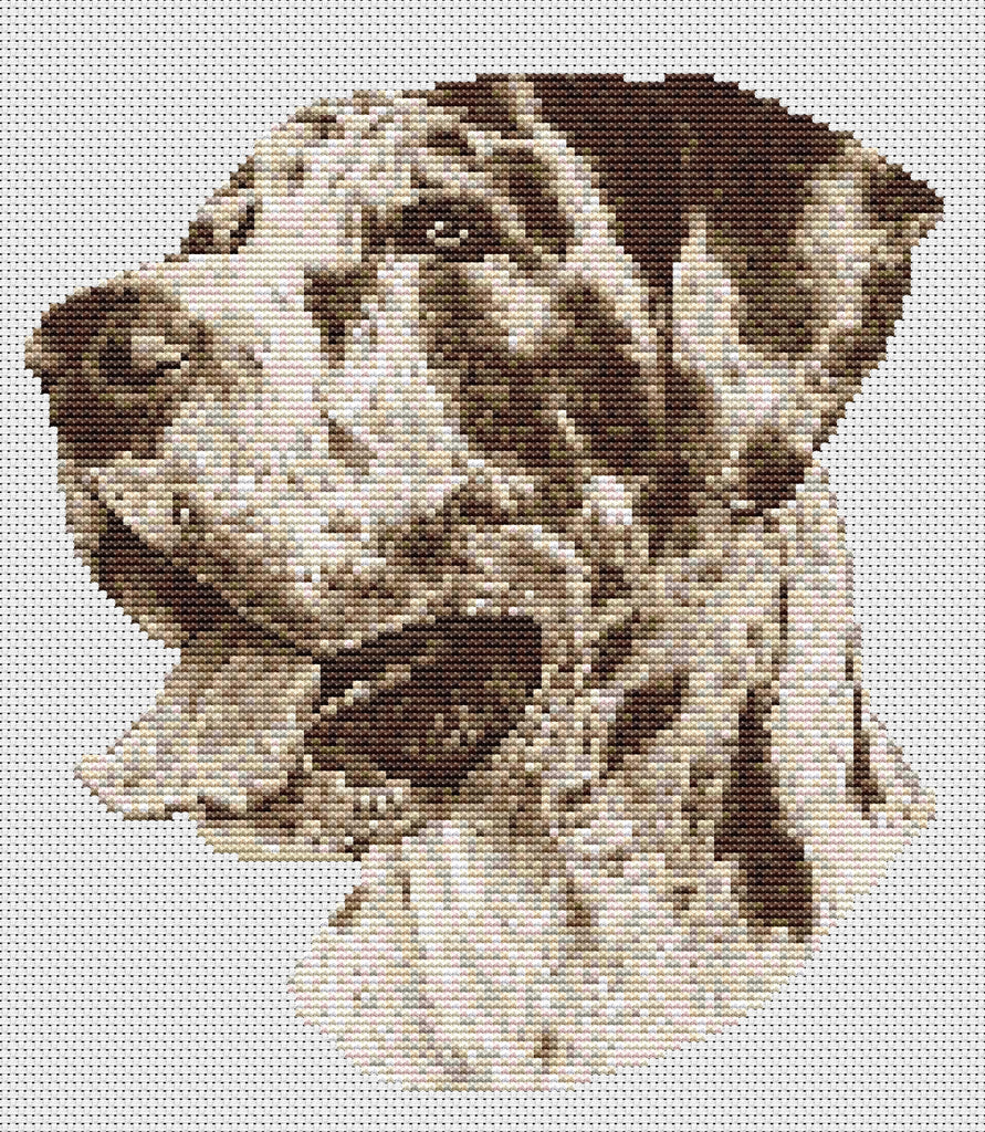 Harlequin Great Dane Counted Cross Stitch Kit