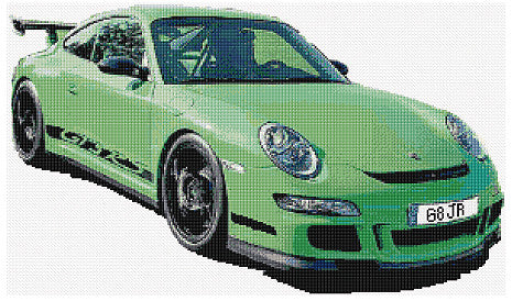 Porsche GT Counted Cross Stitch Kit