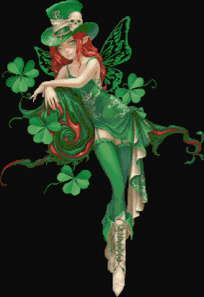 Leprechaun Fairy Counted Cross Stitch Kit
