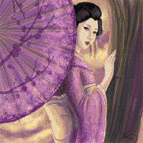 Lilac Geisha  Counted Cross Stitch Kit