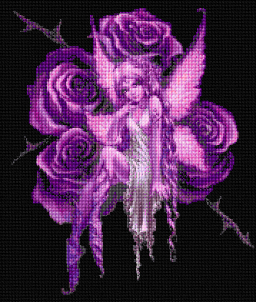 Lilac Rose Fairy  Counted Cross Stitch Kit