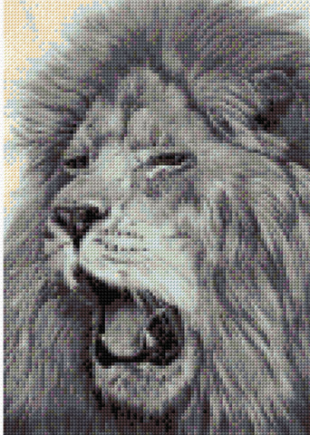 Lion  Counted Cross Stitch Kit