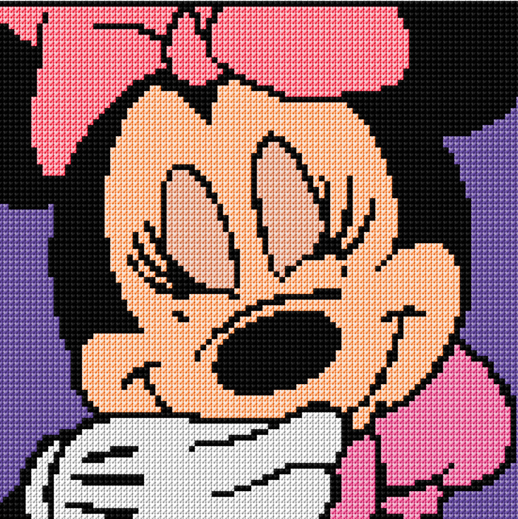 Minnie Mouse Portrait Counted Cross Stitch Kit
