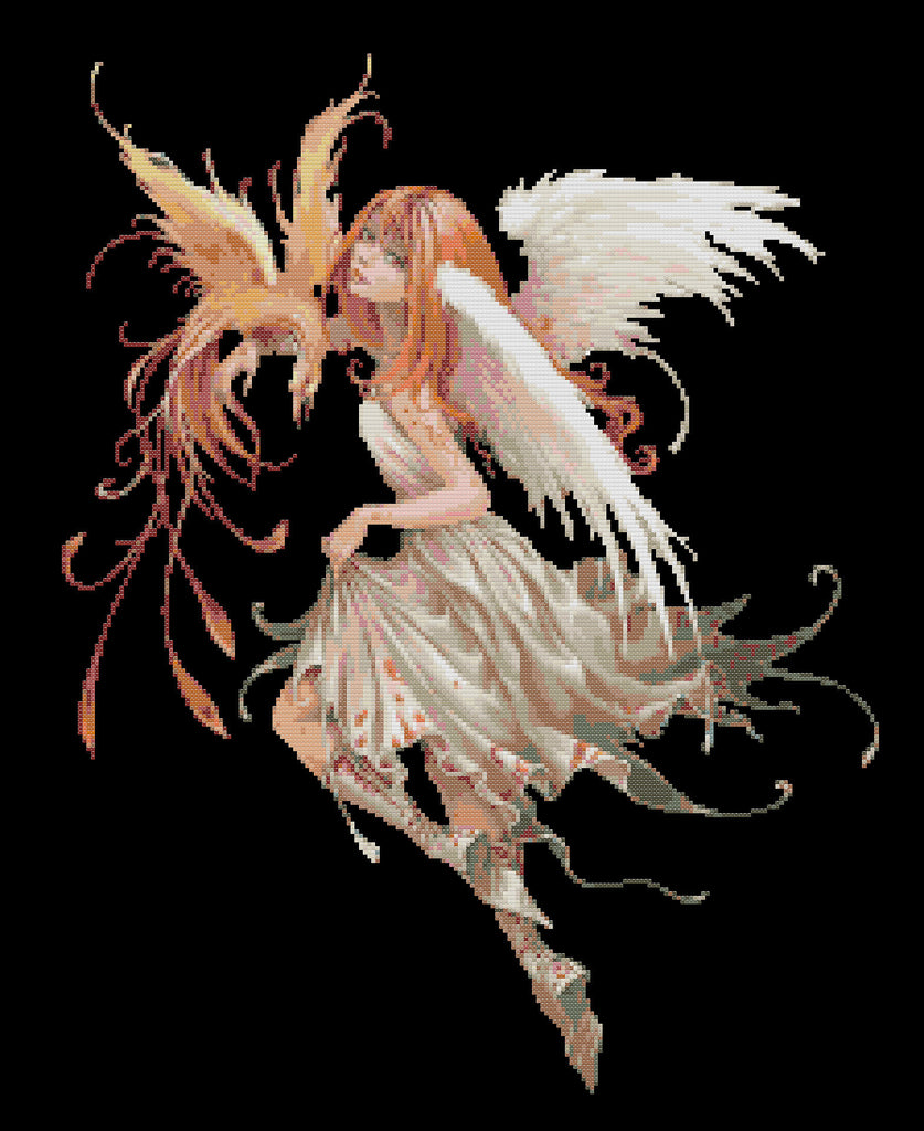 Phoenix Fairy Counted Cross Stitch Kit