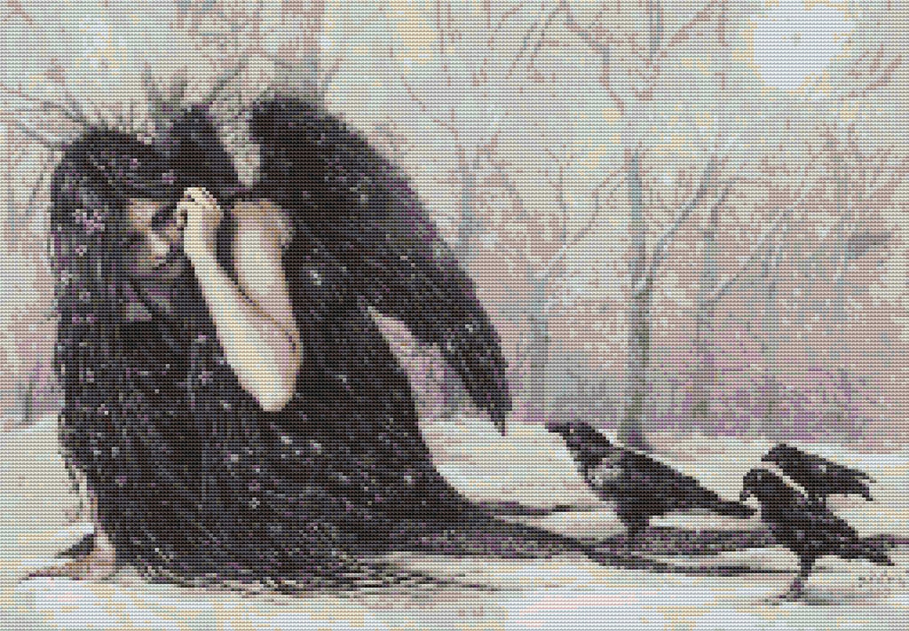 Raven Fairy Counted Cross Stitch Kit