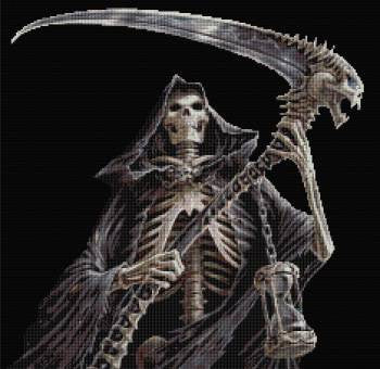 The Reaper Counted Cross Stitch Kit