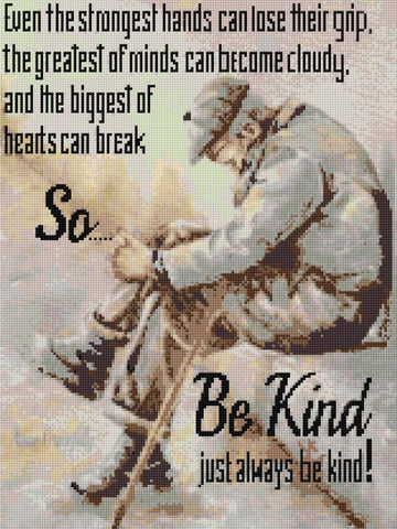 'Be Kind'  Counted Cross Stitch Kit
