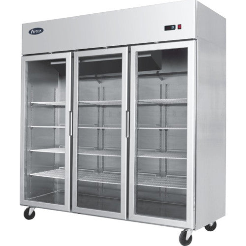 Economy Glass Door 3-Door Cabinet