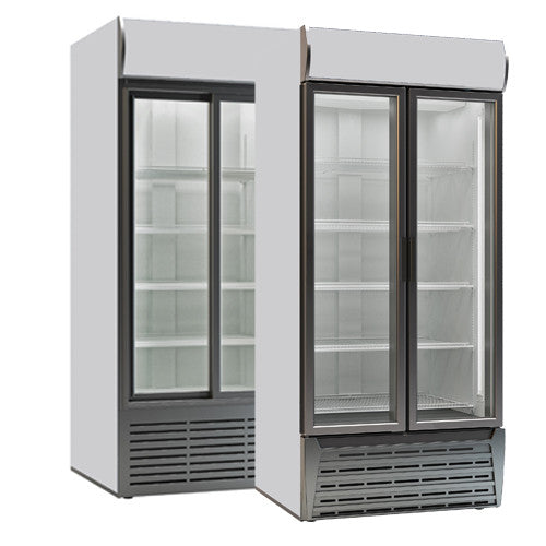 Sterling Pro Double Door Display Chillers - Academy Refrigeration & Air Conditioning
