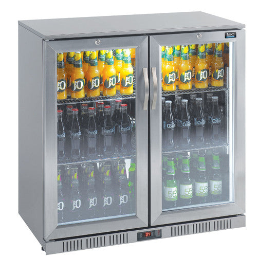 LEC Efficient Double Door Bottle Coolers - Academy Refrigeration & Air Conditioning