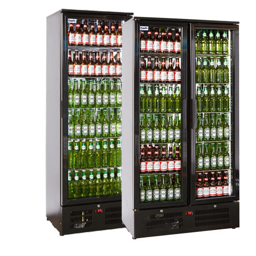 Economy Tall Black Bar Coolers