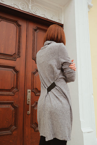 Long Coat with Button Detail in Back