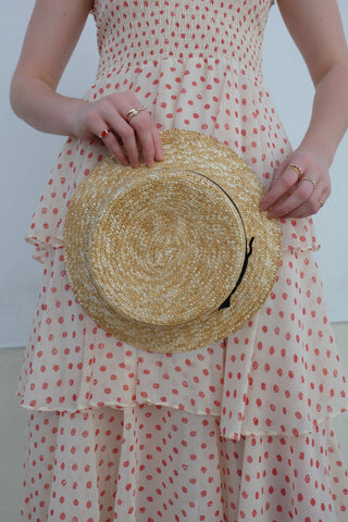 Straw Hat with Ribbons