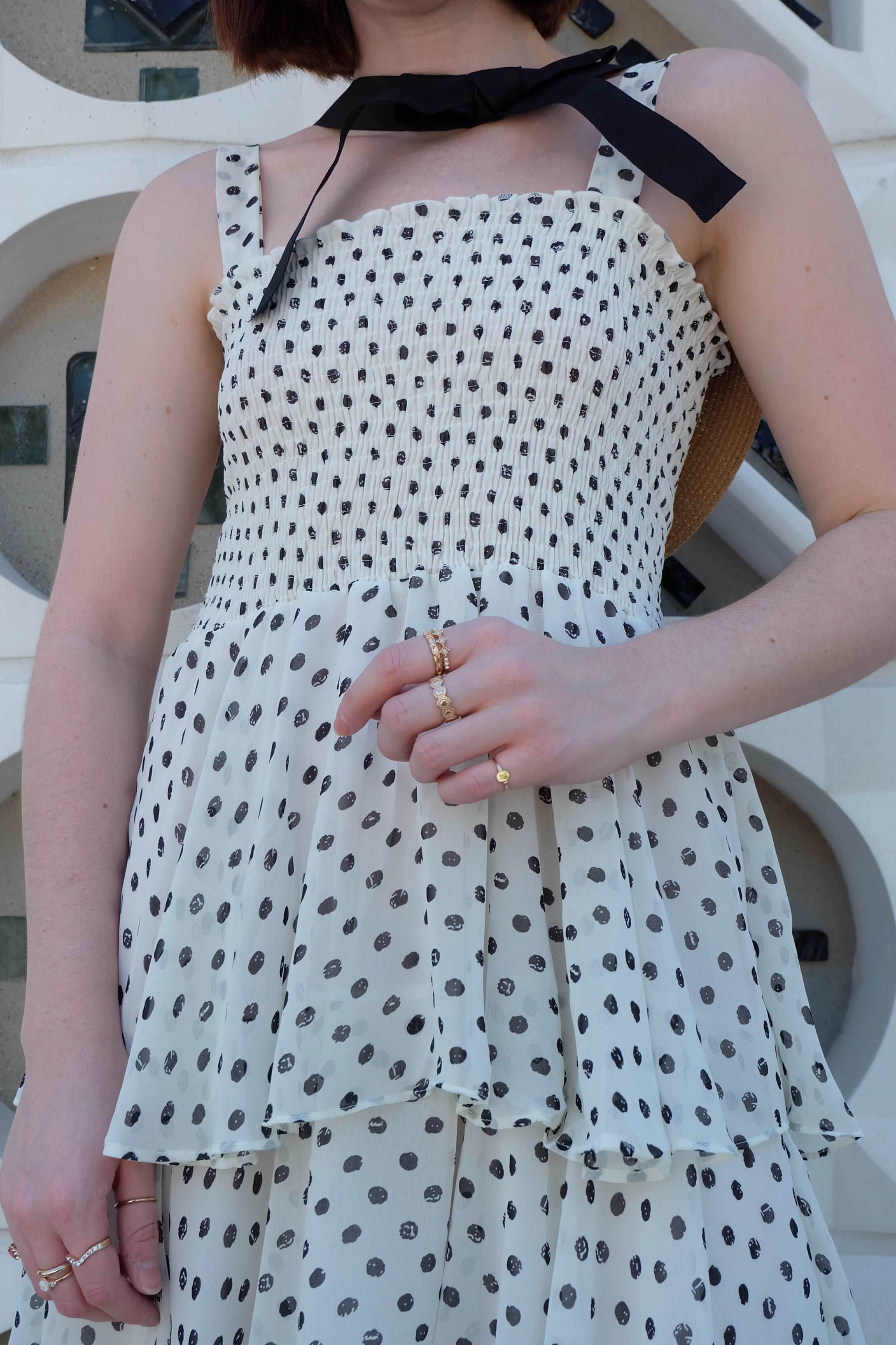 Sleeveless Polka Dot Dress #1950