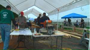 Boy Scout builds gazebo for Roses for Autism