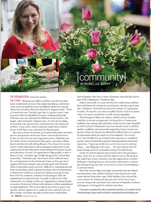 Connecticut Magazine - Roses for Autism Feature