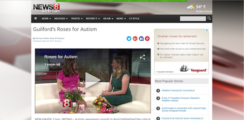 News Channel 8 interview Roses for Autism