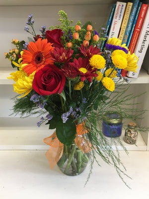 Celebrate Fall Bouquet with Vase - Shipping Included!