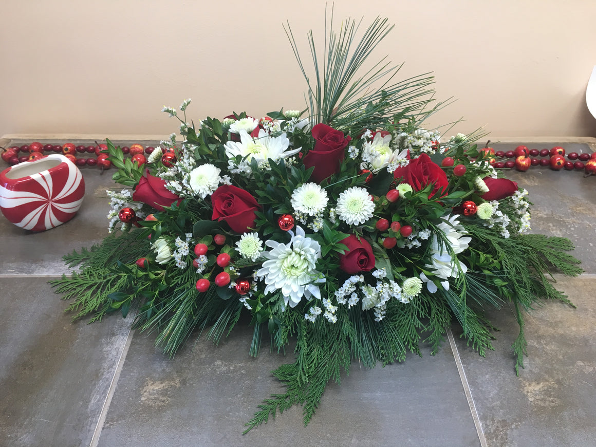 Holiday Celebration Long & Low Arrangement! Local Delivery and Pickup Only!