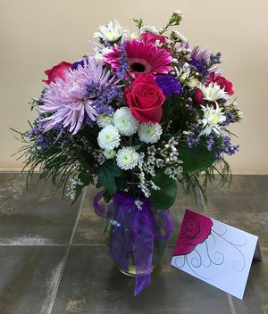 Lovely and Lavender Bouquet with Vase - Shipping Included!