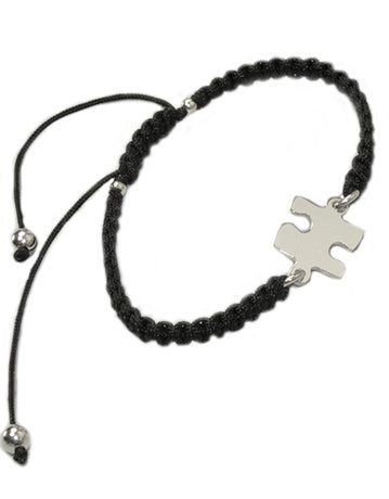Sterling Silver Puzzle Piece Bracelet With Free Shipping