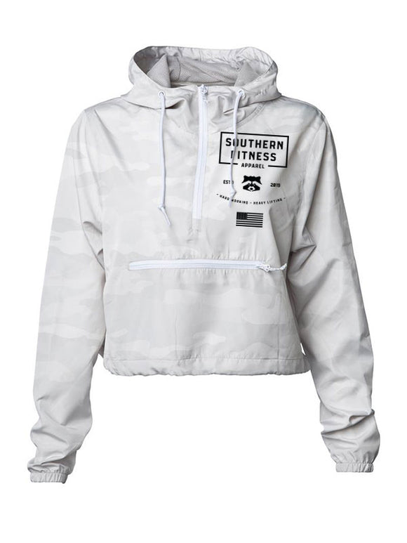 CROP WINDBREAKER - WHITE *PRE-ORDER*