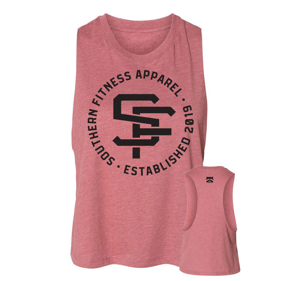 LOGO MUSCLE CROP - MAUVE