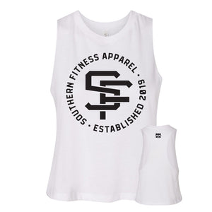 LOGO MUSCLE CROP - WHITE