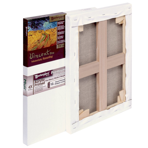 Masterpiece Artist Canvas Vincent Pro Canvas 7-Inch by 15-Inch, Acrylic Primed Muir Belgian Linen