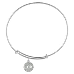 10K Silver Adjustable Bracelet