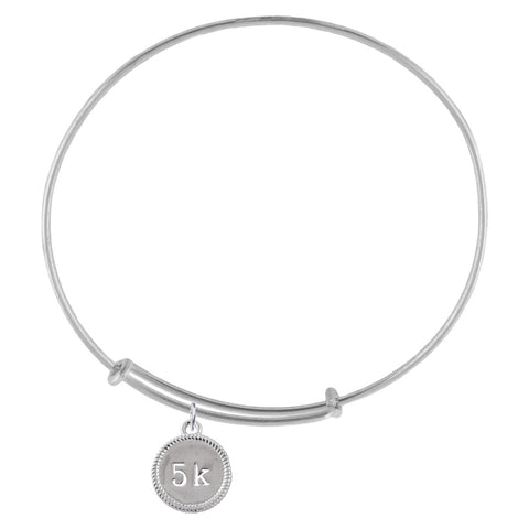5K Silver Adjustable Bracelet