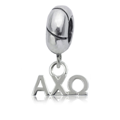 Alpha Chi Omega Silver Charm Bead