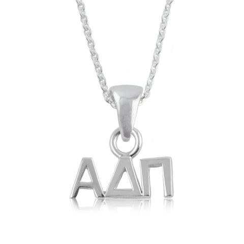 Alpha Delta Pi Silver Necklace
