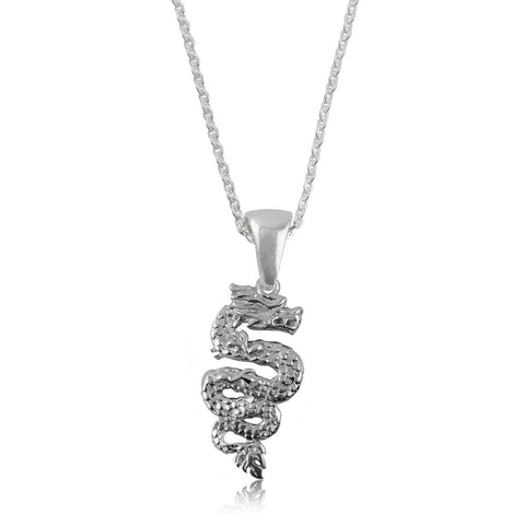 Dragon Silver Necklace