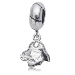 NCAA East Carolina Pirates Silver Charm Bead