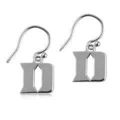 NCAA Duke Blue Devils Silver Earrings