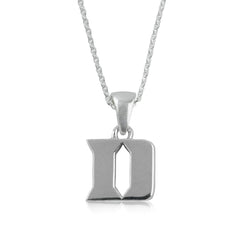 NCAA Duke Blue Devils Silver Necklace