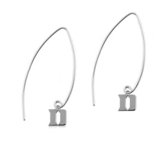 NCAA Duke Blue Devils Silver Fishhook Earrings