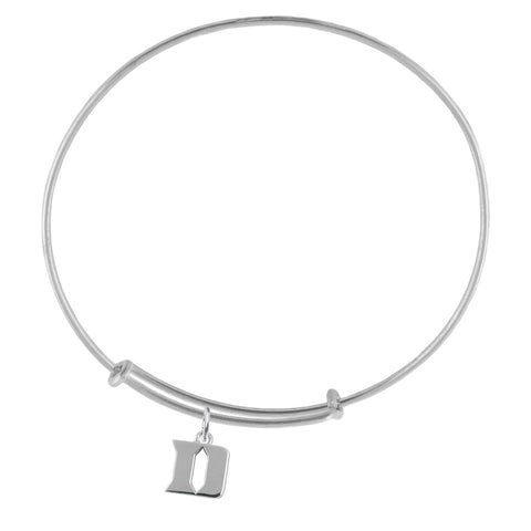 NCAA Duke Blue Devils Silver Adjustable Bracelet
