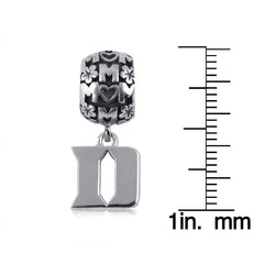 NCAA Duke Blue Devils Silver Mom Charm Bead