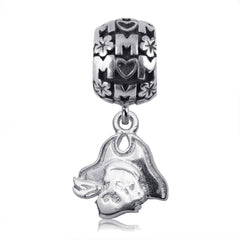 NCAA East Carolina Pirates Silver Mom Charm Bead