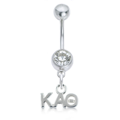 Kappa Alpha Theta Stainless Belly Ring